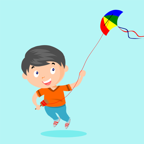 The Kite without a thread